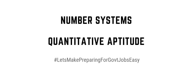 Number Systems Quantitative Aptitude