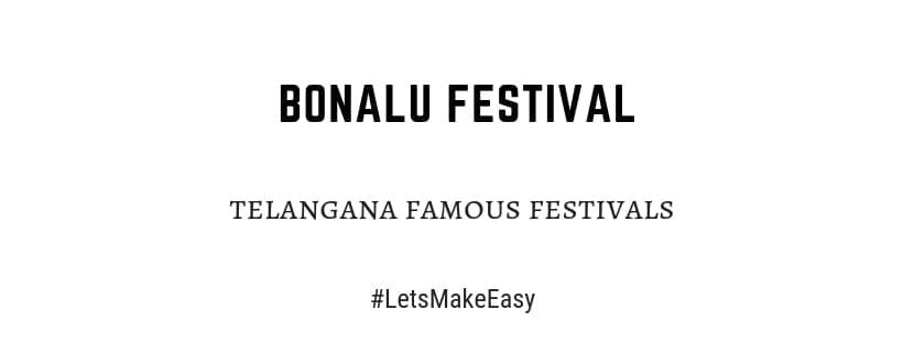 importance of telangana bonalu festival
