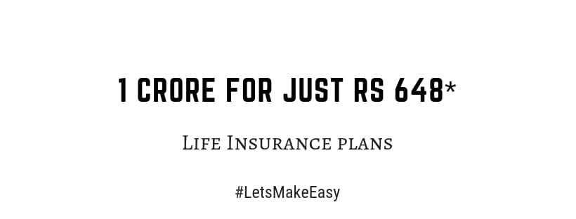 riskLife Insurance plans for 1 crore