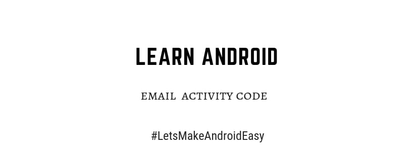 android email snippet activity code download