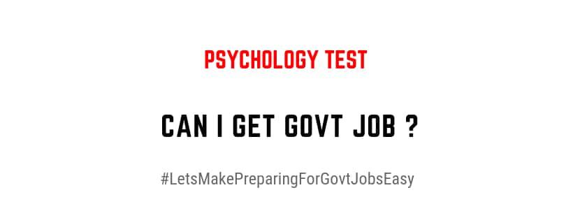 can i get govt job