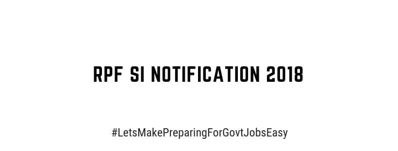 rpf notification 2018