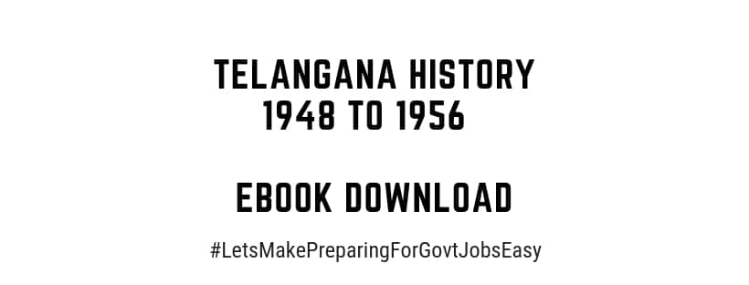 Telangana History 1948 to 1956 eBook download