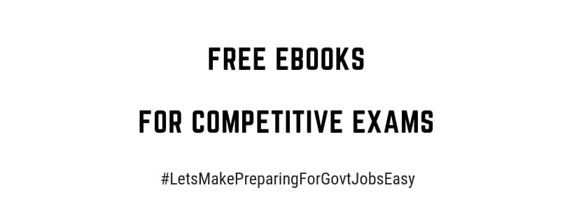 Free eBooks for all competitive exams and download eBooks