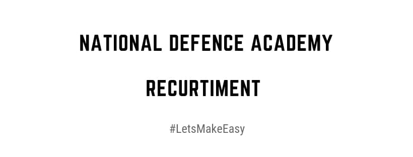 national defence academy application form