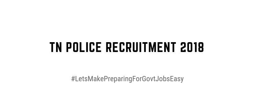 tn police recruitment 2018