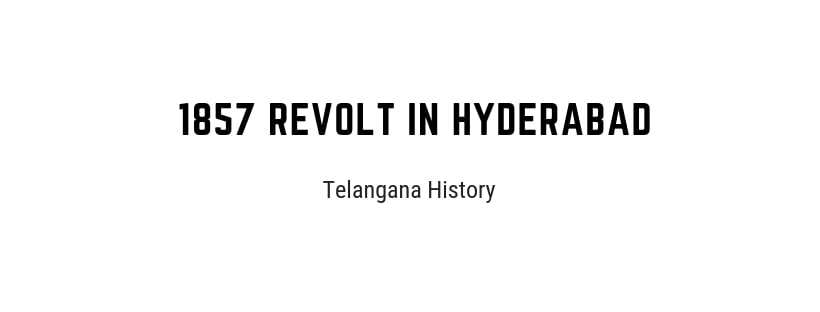 1857 revolt in Hyderabad State
