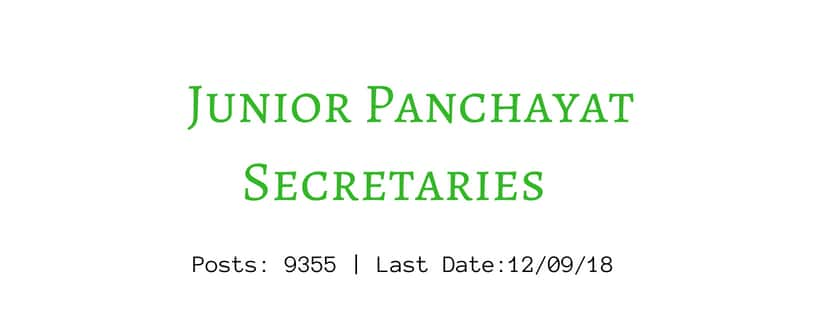 Jr Panchayat Secretary 2018 exam pattern study material pdf download