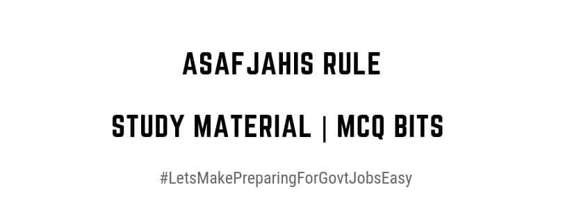 Asaf jahis Administrative System
