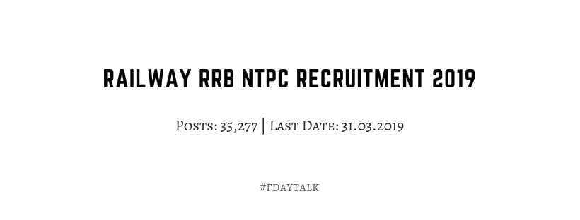 RRB railway ntpc 2019