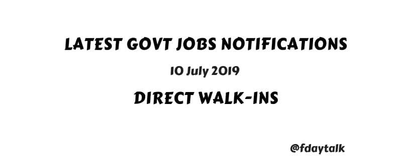 central government notifications july 2019