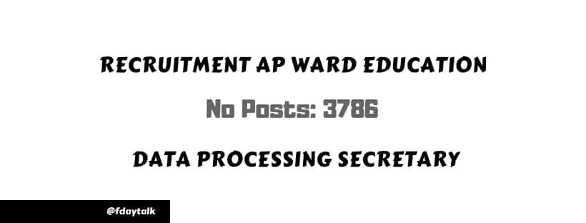 exam pattern ap Ward Education Data Processing Secretary 2019