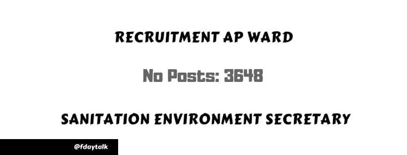 exam pattern ap Ward Sanitation Environment Secretary