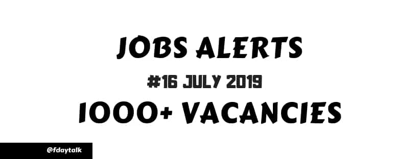 latest govt jobs notification july 2019