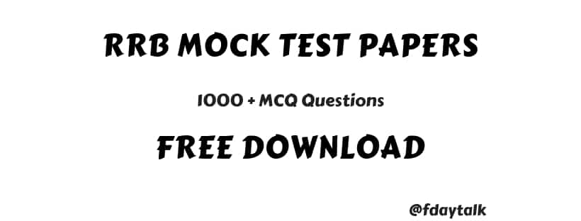 rrb mock test papers free download