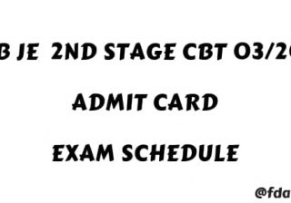 RRB JE 2nd Stage CBT Admit card