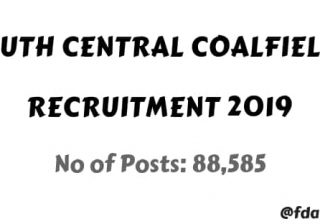 south central coalfields Recruitment 2019