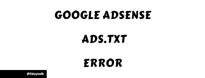 Google Adsense ads txt Error