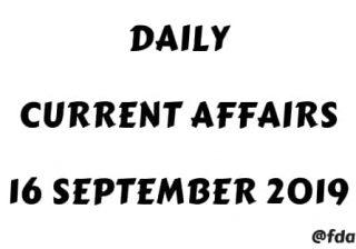 Current Affairs PDF 2019 Download